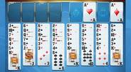 Una versión alternativa de Freecell. Todas las cartas de la baraja están sobre la mesa, en 8 columnas. Debes crear columnas en orden descendente en el mismo palo. […]