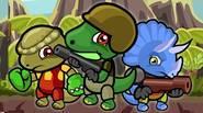 ¡El escuadrón Dino contra ataca! Recoge monedas de oro y evita a los tiranosaurios en este épico juego de plataformas para dos jugadores. Cada dinosaurio tiene sus propias […]